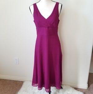 J. CREW Women's Sleveless Purple Silk Dress